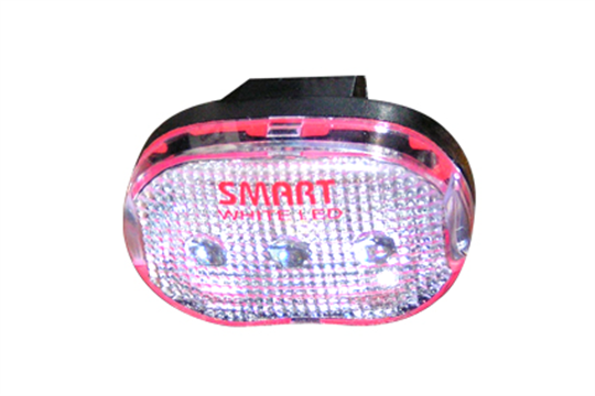** Knipperlicht Smart, wit glas, wit led licht, 2 functies, incl. clip-on houder en batterijen